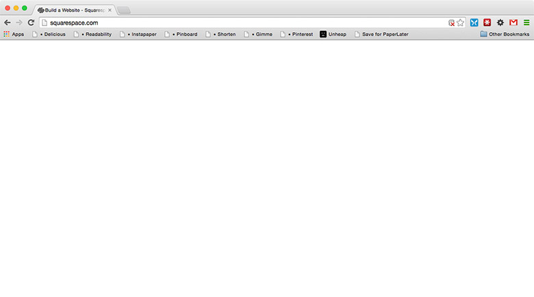 A screenshot of squarespace.com when JS is turned off