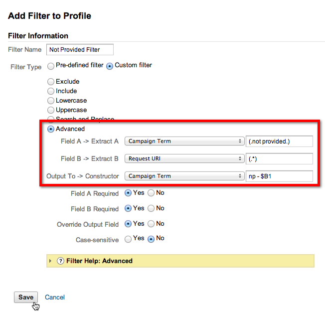 Using profile filters