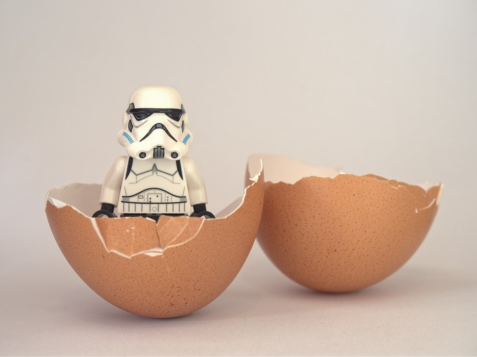 storm trooper in egg
