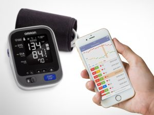 Blood pressure monitor and phone app