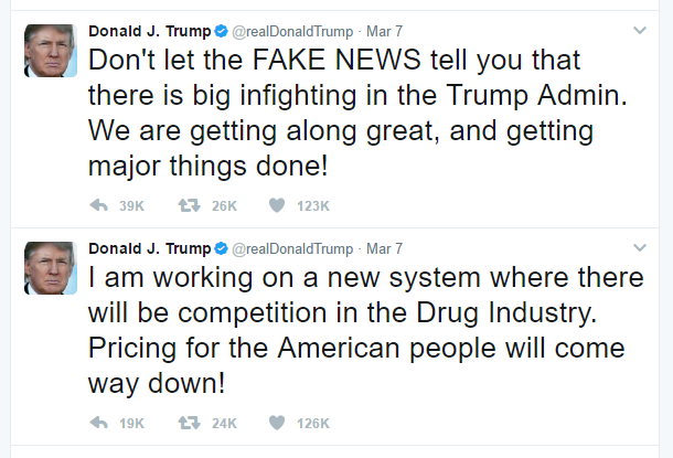 donald trump twitter post
