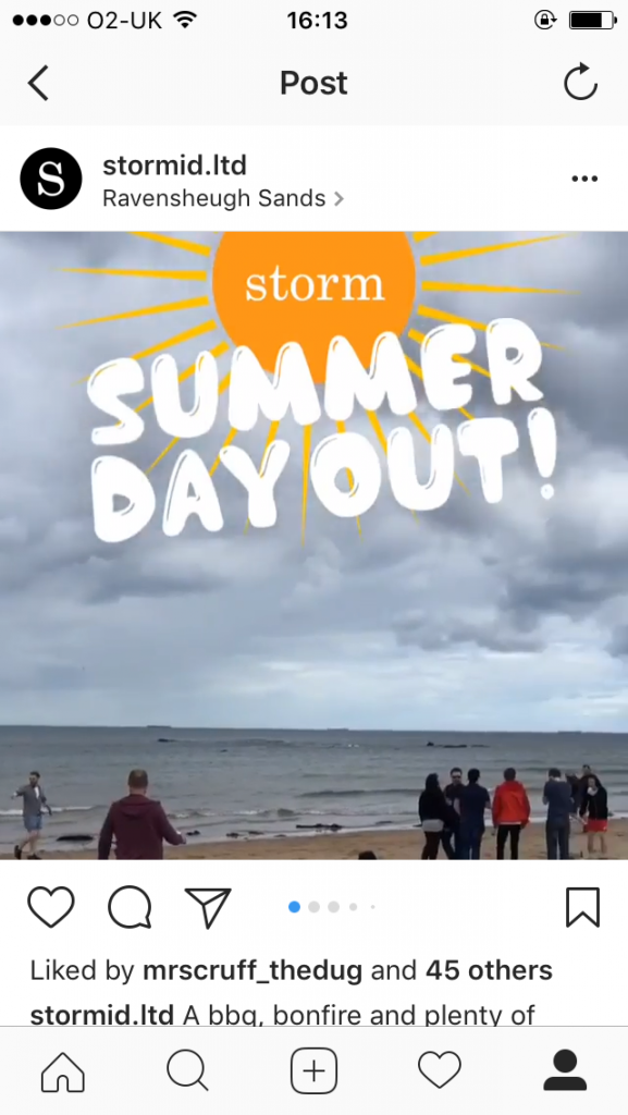 storm ID summer day out instagram