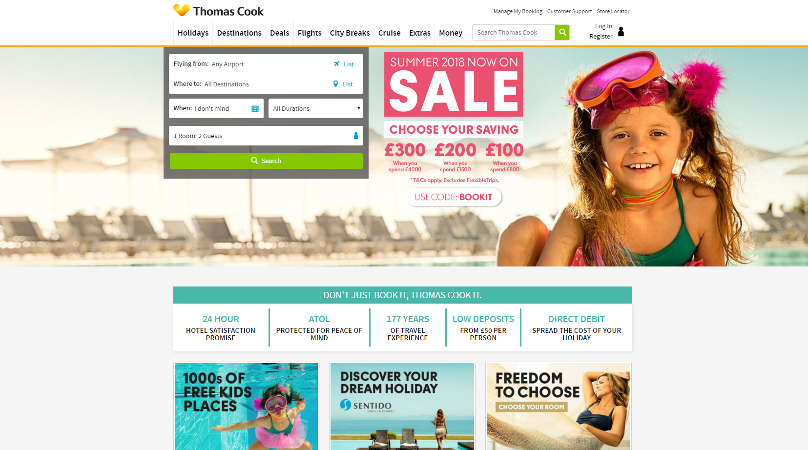 thomas cook value proposition