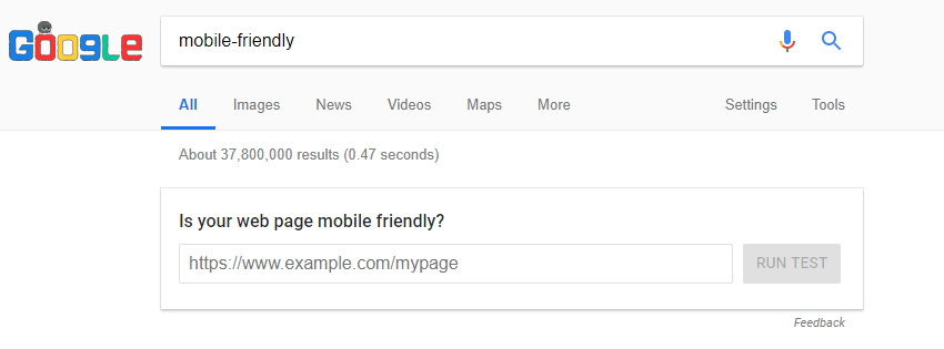 Mobile-friendly SERP