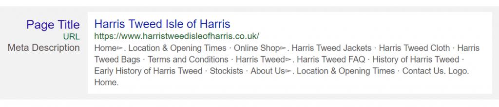 Harris Tweed Search Result