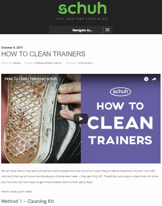 How to Clean Trainers