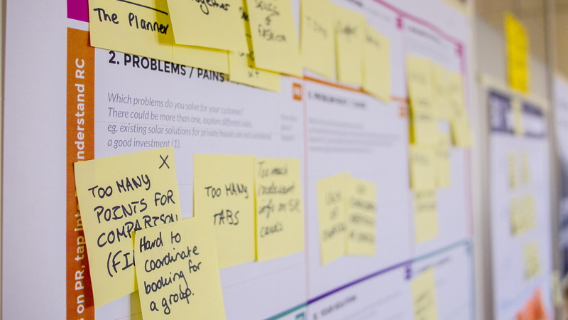 UX post-it notes