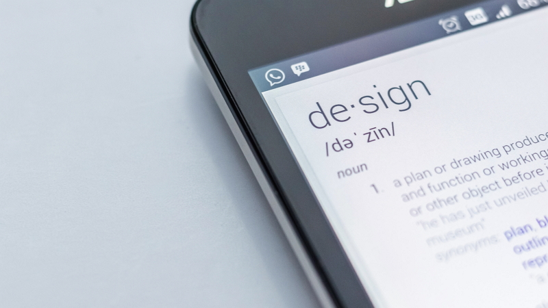 definition of design on mobile device