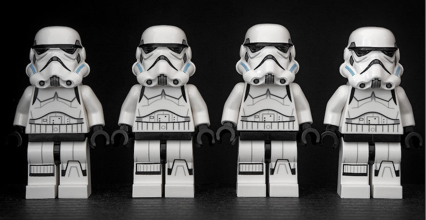 Line of Storm Troopers