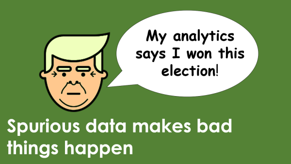 Spurious data makes bad things happen
